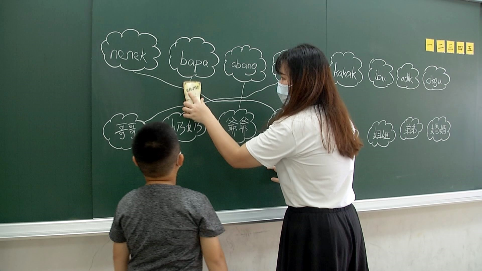 SD Taoyuan belajar bahasa Asia Tenggara melalui permainan