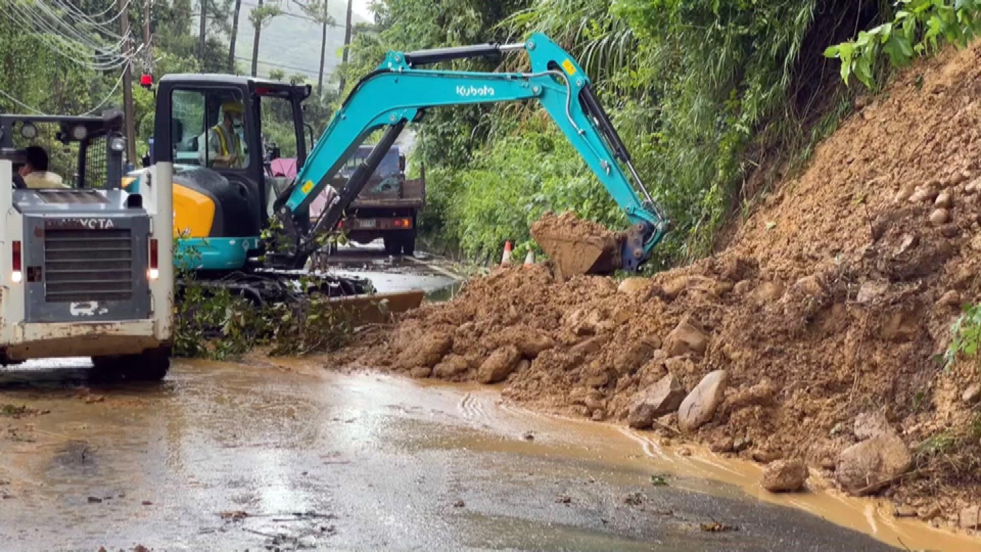 Ảnh hưởng từ hoàn lưu bão, mưa ở Tân Trúc vượt 300 mm